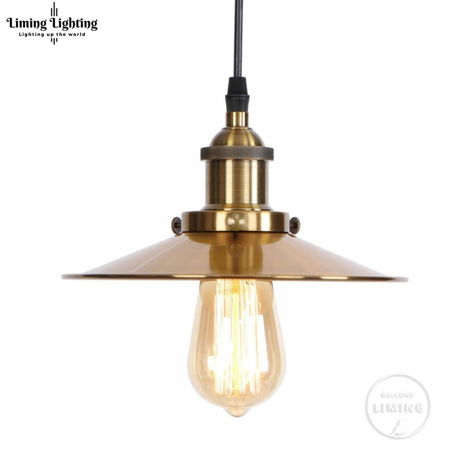 GOLDEN Loft Vintage Industrial Pendant Light Nordic Retro Iron Lights Edison Lamp Lighting Fixture For Cafe Bar Home Lighting