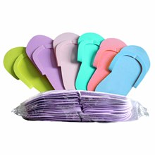 88d17caab3c11f 24 Pairs Disposable EVA Foam Slipper Flip Flops Pedicure Tanning Spa Salon  Tool