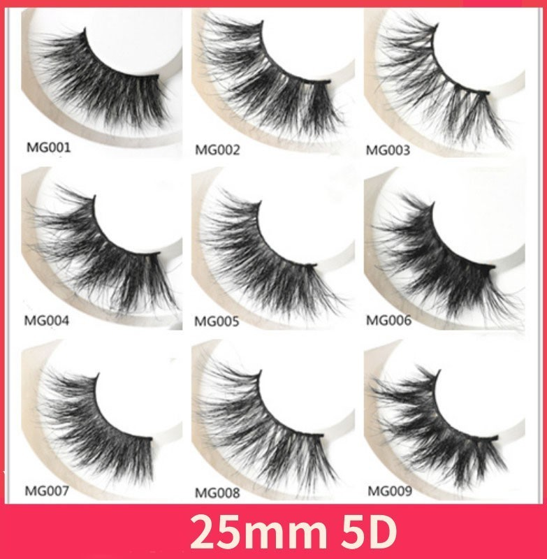 30 Pairs 25mm Lashes Dramatic Mink Lashes Soft Long 3D Mink Eyelashes Crisscross Full Volume Eye
