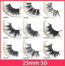 30 Pairs 25mm Lashes Dramatic Mink Soft Long 3D Eyelashes Crisscross Full Volume Eye Makeup