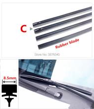 Free Shipping car Windscreen Wipers Blade(Refill) for MAZDA 2 3 Sport 5 6 CX-5 CX-7 CX-9 MPV MX-5 Miata Verisa car Wiper cheap PUOU 2011 2015 2016 2013 2012 2014 ISO9001 OU-150 wiper refill Natural rubber 2017Year 0 8cm