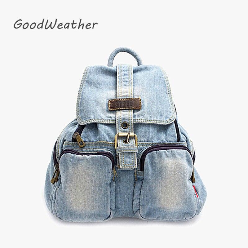 Повседневный маленький синий джинсовый рюкзак с чехлом, высококачественные женские повседневные Рюкзаки для путешествий, 2 цвета, Повседневная джинсовая сумка