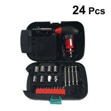 24 шт./упак. авто-Стайлинг авто инструменты для ремонта набор инструментов профессиональный многофункциональный фонарик комплект для автомобиля авто