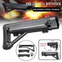PDW Tactical Nylon Buttstock For Jinming 9 NWELL M4 HK416 BD556 TTM LTD416 Toy Guns Replacement Accessories Gel Ball Blasters