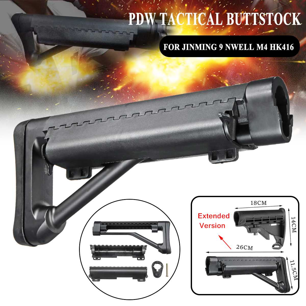 PDW bouton en Nylon tactique pour Jinming 9 NWELL M4 HK416 BD556 TTM LTD416 accessoires de rechange pour pistolets à billes Gel