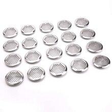 20 x аэрационная сетка вентиляционная круглая крышка 65 мм нержавеющая сталь серебро