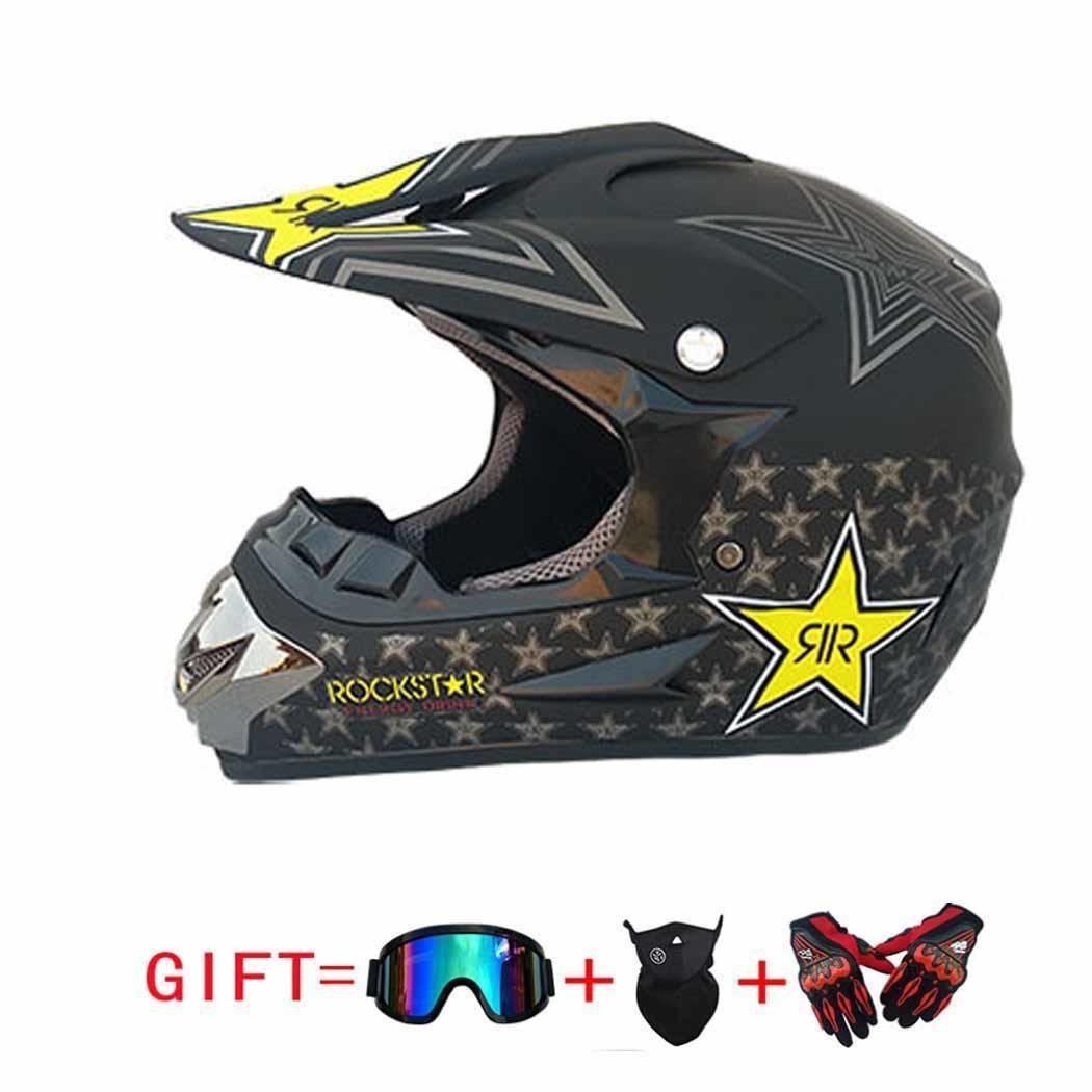 Casque de course vtt moto hors route avec lunettes casque de moto confortable et respirant. Masque facial