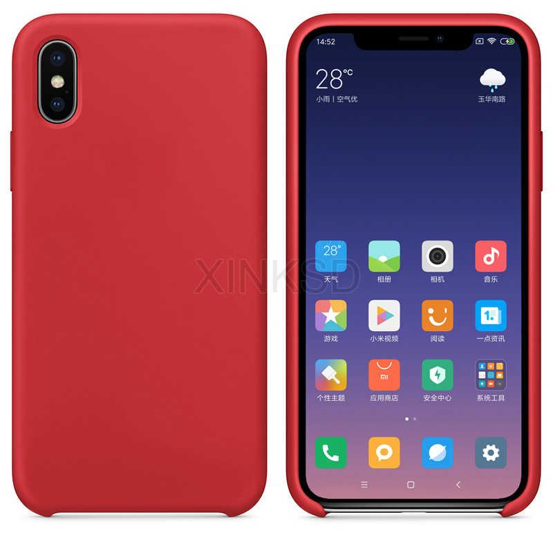 Чехол для Xiaomi mi 9 8 SE A2 lite 6X6 макс 3 PRo mi X 3 2 2 S на Red mi Примечание 7 6 5 PRo 5 плюс 6A оригинальные жидкие силиконовый чехол