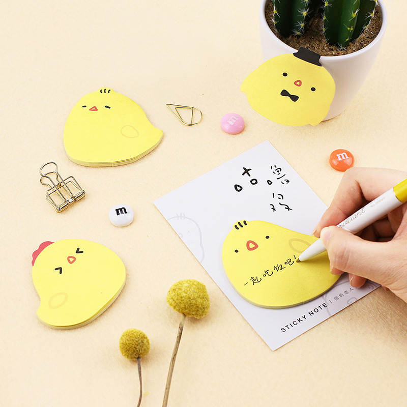 30Sheets/Lot Cute Chicken Memo Pads Set  Sticky Notes Planner Stickers Pads For Kids School Office Supplies Kawaii Stationery