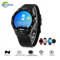 KingWear KW88 Android Smart Watch Men 1.39inch 512MB RAM 4GB ROM Bluetooth 4.0 Smartwatch With WIFI GPS Pedometer Gravity Sensor