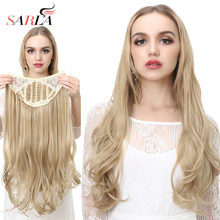 Hair Extension Clip in on 5clip Synthetic Long Curly Natural one piece Full Head Blonde Black Wave Cosplay Party(China)