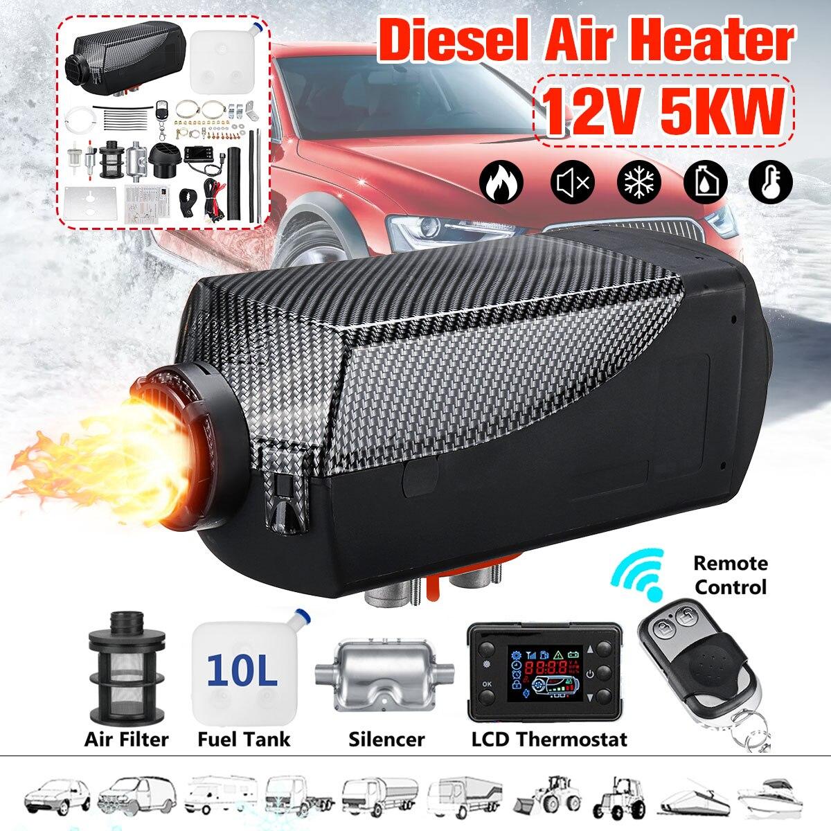Chauffage de voiture d'hiver 5KW 12 V Air autonome chauffage Diesel chauffage de stationnement avec télécommande moniteur LCD pour remorque camions bateau