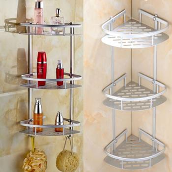 Wysokiej jakości 2 3Tier rogu przechowywania uchwyt półki szampon do łazienki prysznic uchwyt kuchenny do przechowywania organizator akcesoria do kąpieli zestawy tanie i dobre opinie Podwójny tier Śruba typu wstawianie Łazienka półki Alumimum Aluminium Shower Shelf Chrome