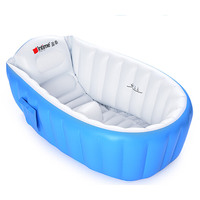 Portable Inflatable Bathtub Anti Slip Keep Warm Baby Bath Tub Infant Bath Cushion Folding Child Swimming Pool