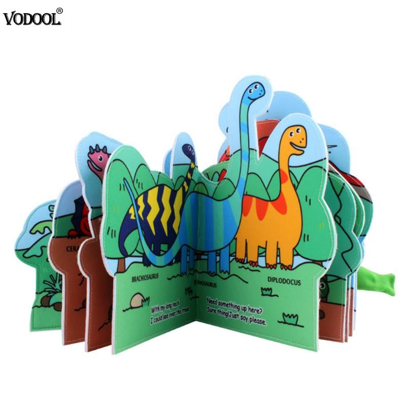 Cartoon Dinosaur Animals Baby Cloth Books Water Painting Book Infant Book Educational Toy Development Reading Soft Books Gift
