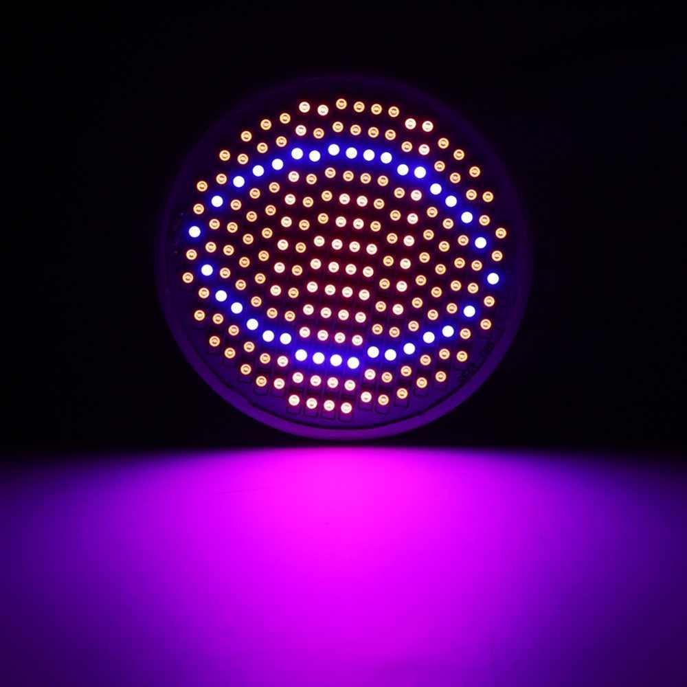 24 Вт 200-светодиодный светильник для выращивания растений E27 гидропоники, лампы для Выращивание овощей, полный спектр 85 ~ 265 В для тепличных растений, лампа для выращивания растений