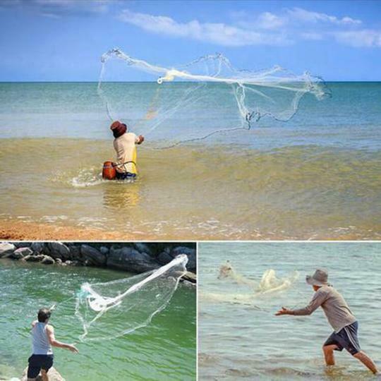 Image 5 - Волшебная рыболовная сеть, литые сети 2,4 м, высокопрочная нейлоновая Моноволокно, маленькая сетка, литая ручная рыболовная сеть, рыболовная сеть для ловли рыбы-in Рыболовная сеть from Спорт и развлечения