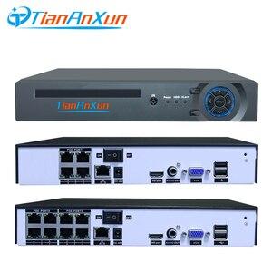Image 2 - Tiananxun sistema de seguridad CCTV H.265, 48V, NVR poe, 4/8 canales, para cámara POE, IP, DVR, 5MP, 4MP, 1080P, videovigilancia, onvif