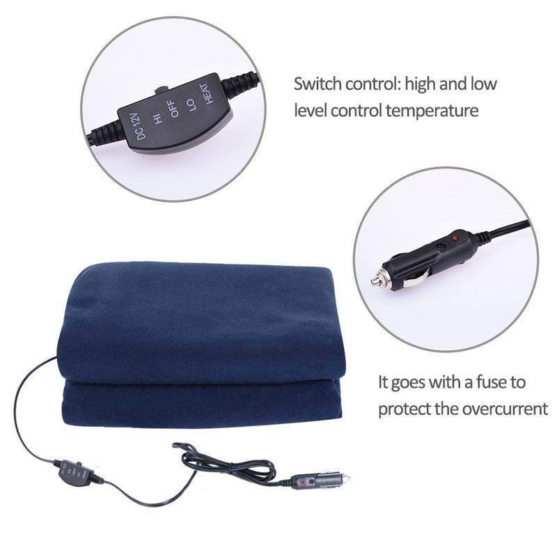 12v Car Winter Hot Navy Blue Polar Fleece Constant Temperature Heating Blanket Electric Cover Pad Mat 3 Model In Vehicle Cup From