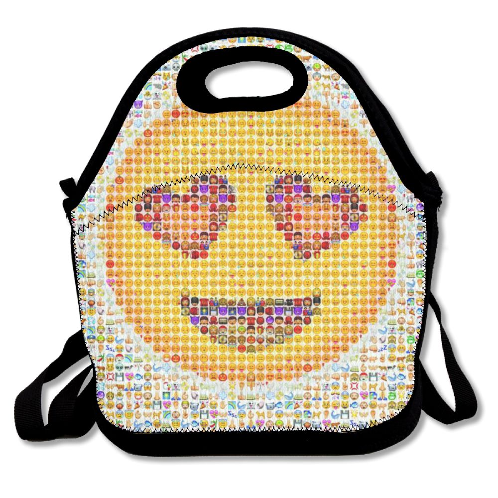 Shiv Naresh Teens Boxing Gloves 12oz: SAMCUSTOM 3D Print Dumb Smiley Emoji Lunch Bags Insulated