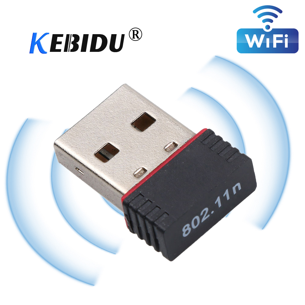 Kebidu ПК Wi-Fi адаптер 150M USB беспроводная сетевая карта 802.11n/g/b LAN RTL8188EU чип Wi-Fi приемник для ПК компьютера