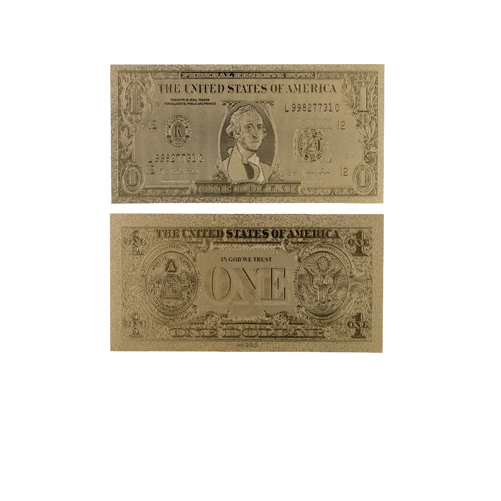 Good Quality American Style NEW USD Gold Banknote Gold