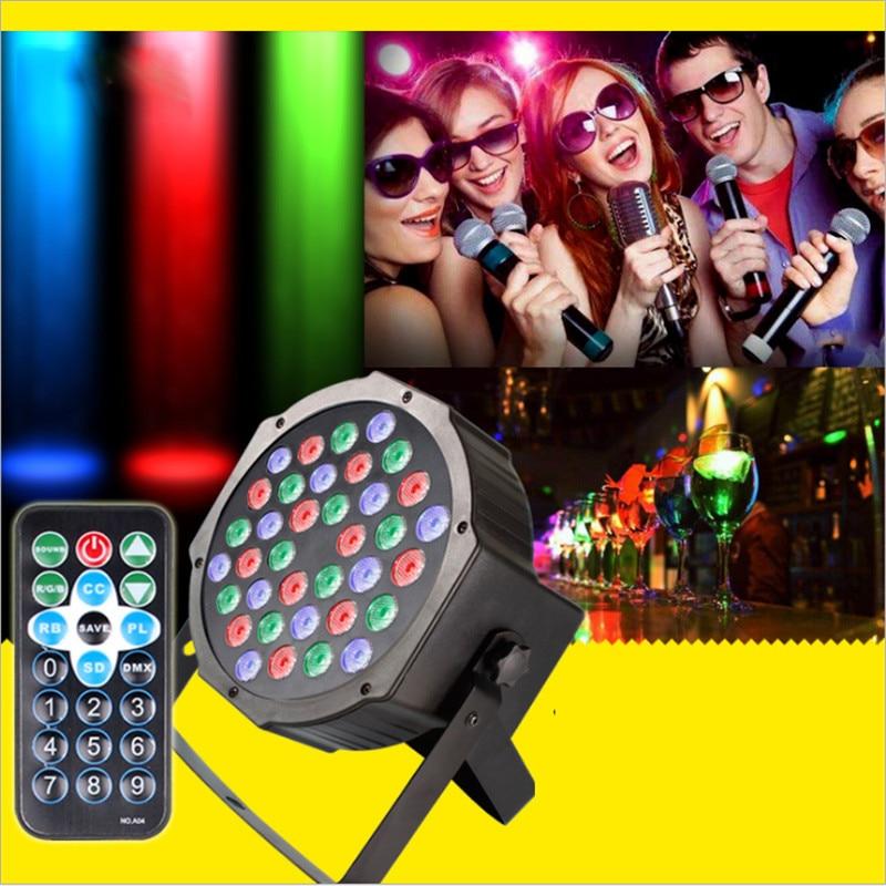 36 LED LED lumière de scène RGB cristal boule magique ampoule DMX Par Disco Club lampe 110-240 V noël vacances fête d'anniversaire lumière