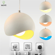 Nordic Led Pendant Lights Lustre Loft art Dining Room Light Fixtures Colorful Lampshade Hanging Lamp Home Kitchen Cafe Luminaire postmodern creative oval italy designer pendant light art loft dining room kitchen coffee shop hanging lights fixtures