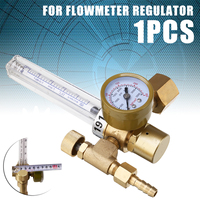 1pc Argon CO2 Mig Tig Flow Meter Gas Regulator Flowmeter Welding Weld Gauge Argon Regulator Pressure Reducer