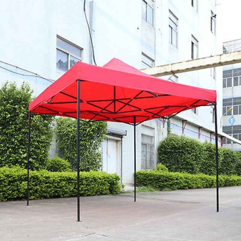 Imperméable soleil ombre Up jardin tente Gazebo auvent extérieur chapiteau marché ombre fête plage bleu/rouge tente 3 m * 3 m