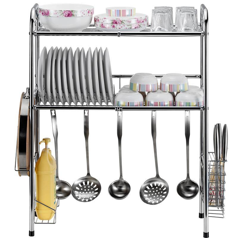 Organisateur Fridge Dish Drying Refrigerator Sink Organizer Stainless Steel Cocina Organizador Mutfak Cuisine Kitchen Rack