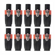 10 قطعة 4 القطب ذكر كابلات الموصلات الصوت التوصيل ل كابل NEUTRIK/NL4FC/NL4FX/NLT4X مكبر صوت للمسرح مكبر للصوت العالمي Ohmic التوصيل