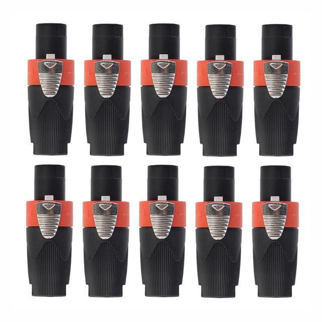 Connecteur de câble Audio mâle 4 pôles 10 pièces pour câble NEUTRIK/NL4FC/NL4FX/NLT4X amplificateur de haut parleur de scène prise Ohmic universelle