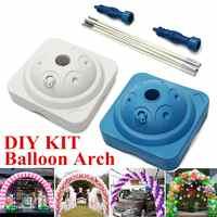 Decoração de casamento DIY Kits de Conectores de Base Da Coluna De Água Clipe Pasta do Arco Do Balão da Festa de Aniversário 2 Cores Suprimentos Definir