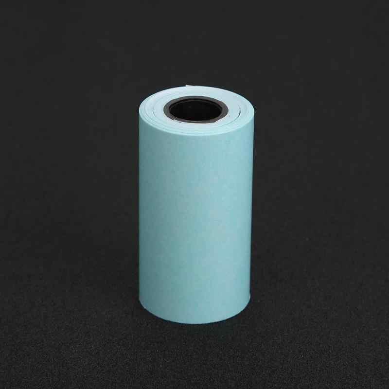 Papel fotográfico adhesivo de papel de impresión térmica de 57x30mm 3 rollos para Mini impresora de bolsillo Paperang de papel artesanal