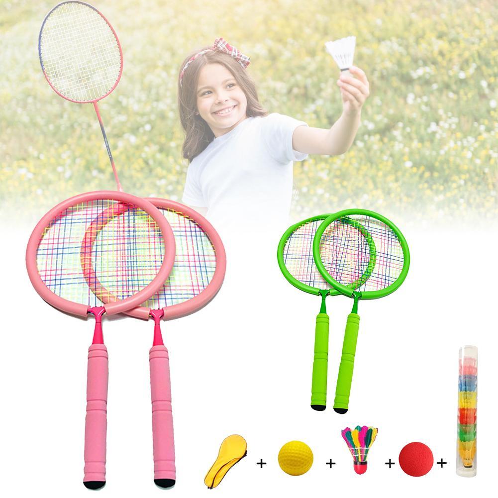 Badminton Racket Junior Tennis Racket For Kids Toddlers Starter Racket Soft Edging Badminton Racket Learn Faster And Play Better