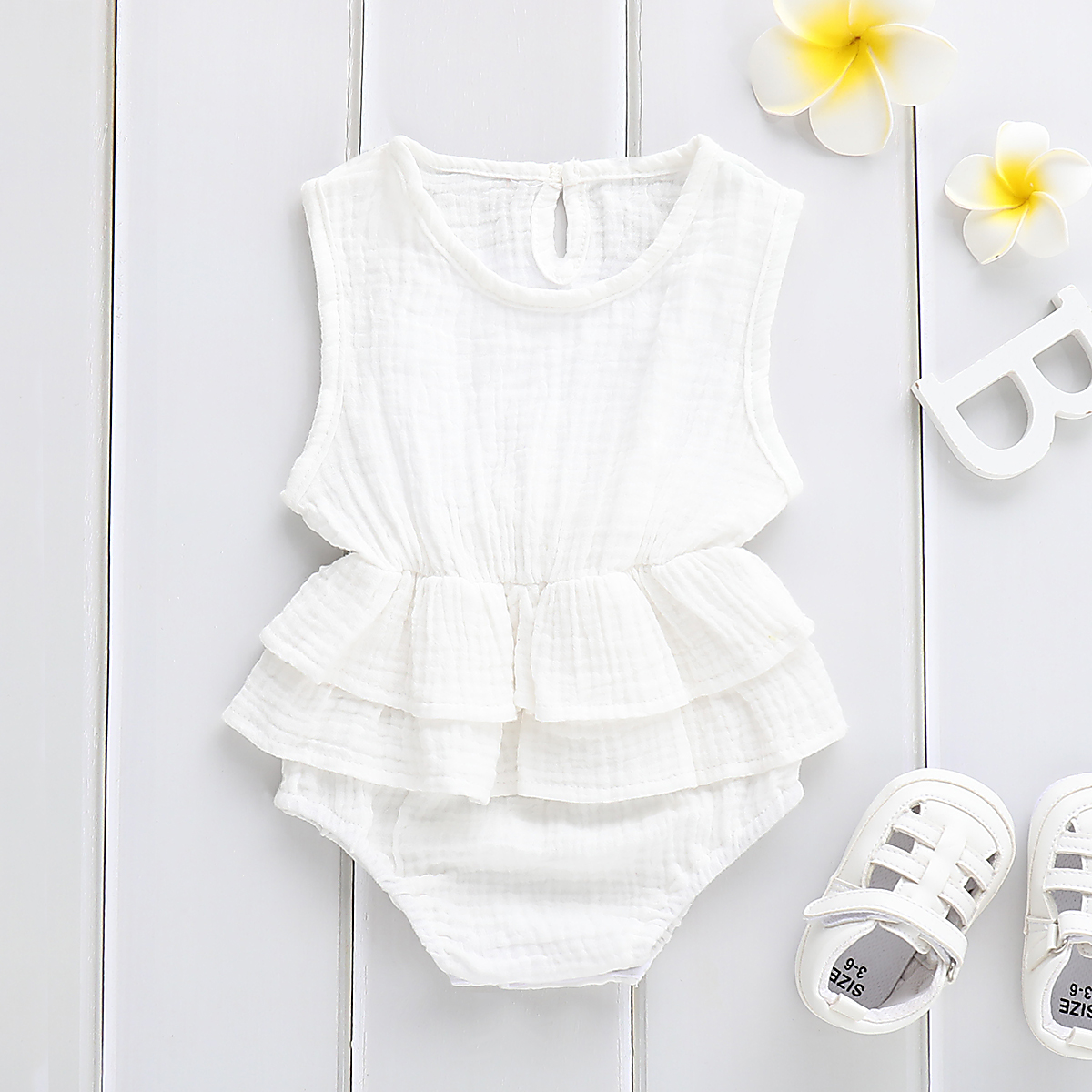Solid Newborn Kid Baby Girl Clothes Sleeveless Romper Tutu Dress 1PC Sunsuit Outfit Solid Newborn Kid Baby Girl Clothes Sleeveless Romper Tutu Dress 1PC Sunsuit Outfit