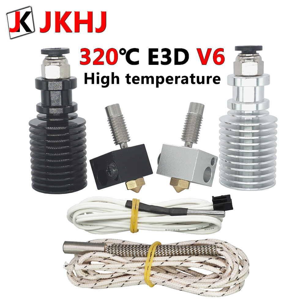 3D Printer Parts 0.4/1.75mm E3D V6 Hotend Kit High Temperature Version 320 Degrees J-head Remote Extruder 12V 24V Hot End