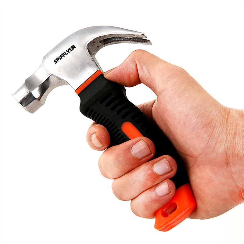 8oz stubby mini hammers small martillo claw hammer tools car window breaker glass rescue emergency safety escape coche geologica