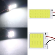 1 Piece T10 W5W C5W 18 24 36 48Smd Cob Led Panel Car Auto Reading Map Lamp Light Dome Festoon BA9S 3 Adapter