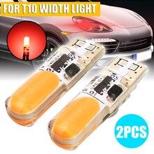 Car Light Source 2pcs 12V 12SMD LED Orange Flash Strobe T10 W5W COB Silica Width Signal Bulb