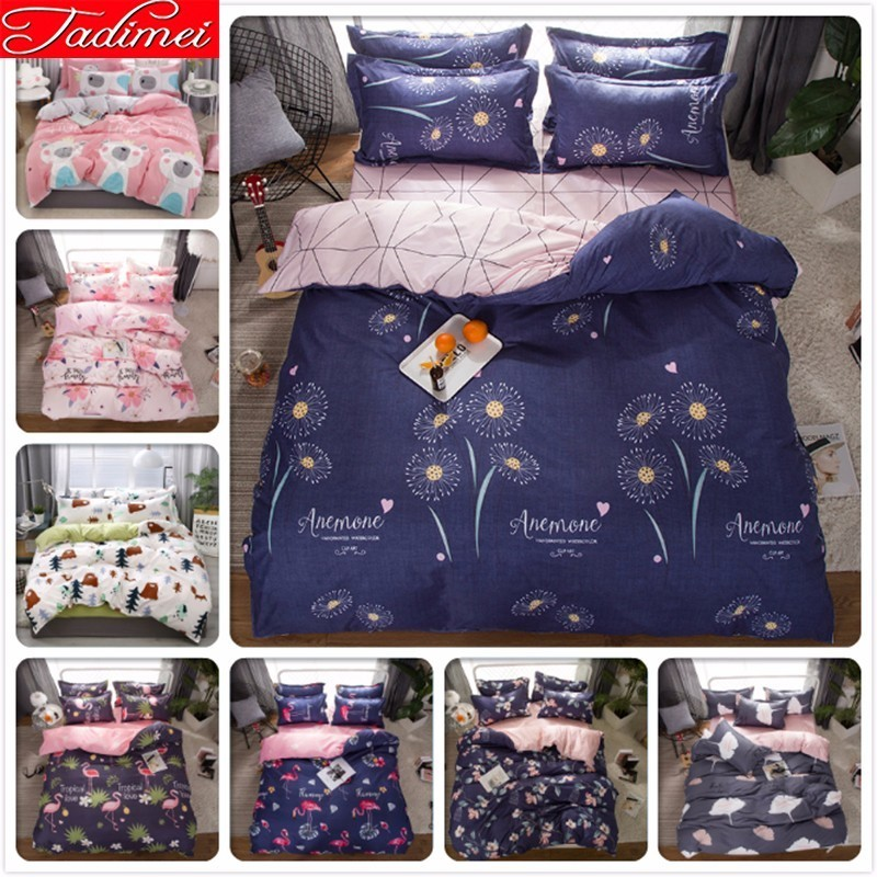 Blue Nigh Sweet Duvet Cover Bedding Set Adult Kids Soft Cotton Bed Linen Single Full Queen King Size Bedspreads Quilt ComforterBlue Nigh Sweet Duvet Cover Bedding Set Adult Kids Soft Cotton Bed Linen Single Full Queen King Size Bedspreads Quilt Comforter