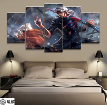 5 Piece Wall Art Anime Poster Picture One Trafalgar Law Painting for Home Modern Decor Canvas Wholesale