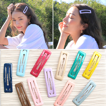 1PC Sweet BB Hair Clips Candy Color Square Hairclips Charm Snap Hairpins Barrettes Lovely Hair Accessories for Women Girls image
