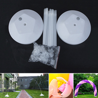 1 Set Balloon Column Arch Base 50* Balloon Clips 20*Holder Tubes 2*Water Bases Upright Pole Display Stand Wedding Party Decor