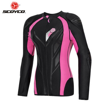 SCOYCO CE Approved Women Body Armor Motorcycle Protection Motocross Back Equipment Clothing Moto Cross Gear Protector Armour