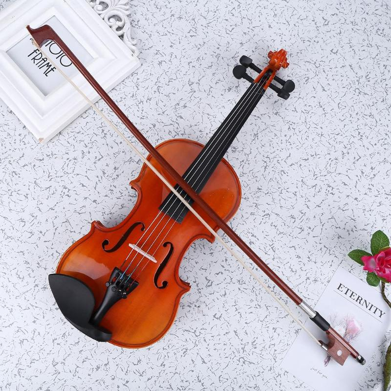 High-end Matte Solid Wood Violin 1/8 Craft Stripe Violino for Kids Students Beginner with Case Bow Musical InstrumentHigh-end Matte Solid Wood Violin 1/8 Craft Stripe Violino for Kids Students Beginner with Case Bow Musical Instrument
