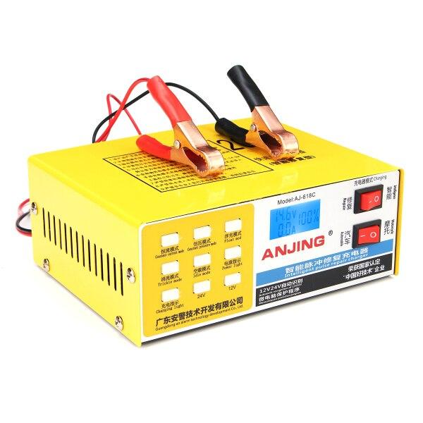 Chargeur de batterie de voiture 12 V/24 V 200 AH entièrement automatique Intelligent réparation d'impulsion Auto chargeur de batterie électrique LED pour moto