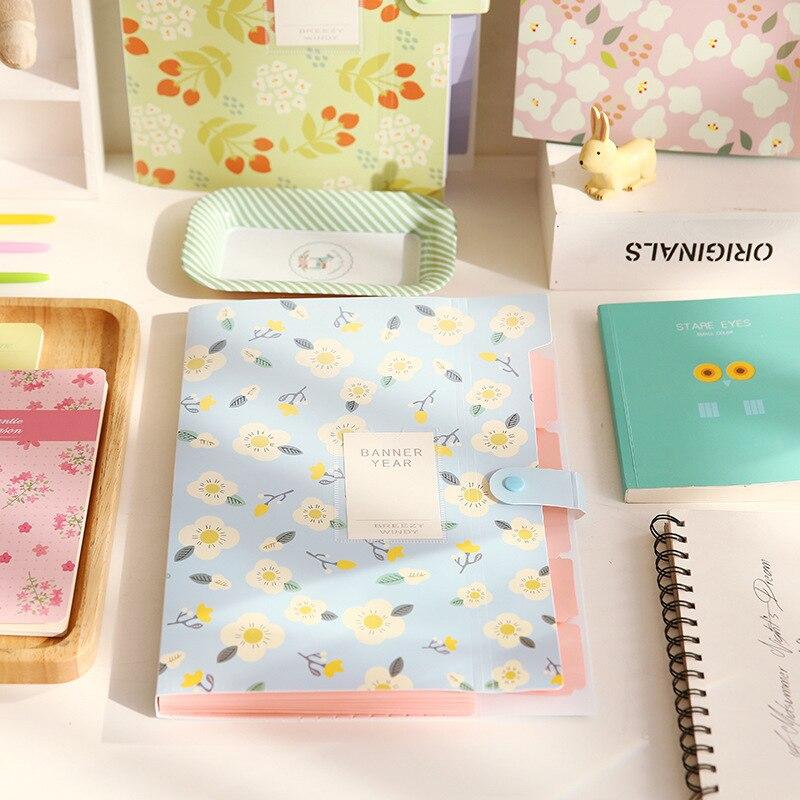 10 Pcs 32*24cm Korea Stationery Shivering Series 8 Income Folder Fresh Data Accept Test Paper Mix Organ Package Plastic File Bag
