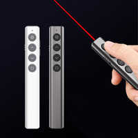 Laser Pointer Wireless Presenter Pen USB Remote Control Flashlight Presentation Flip Clicker PPT Teaching Pointer Laser Pen